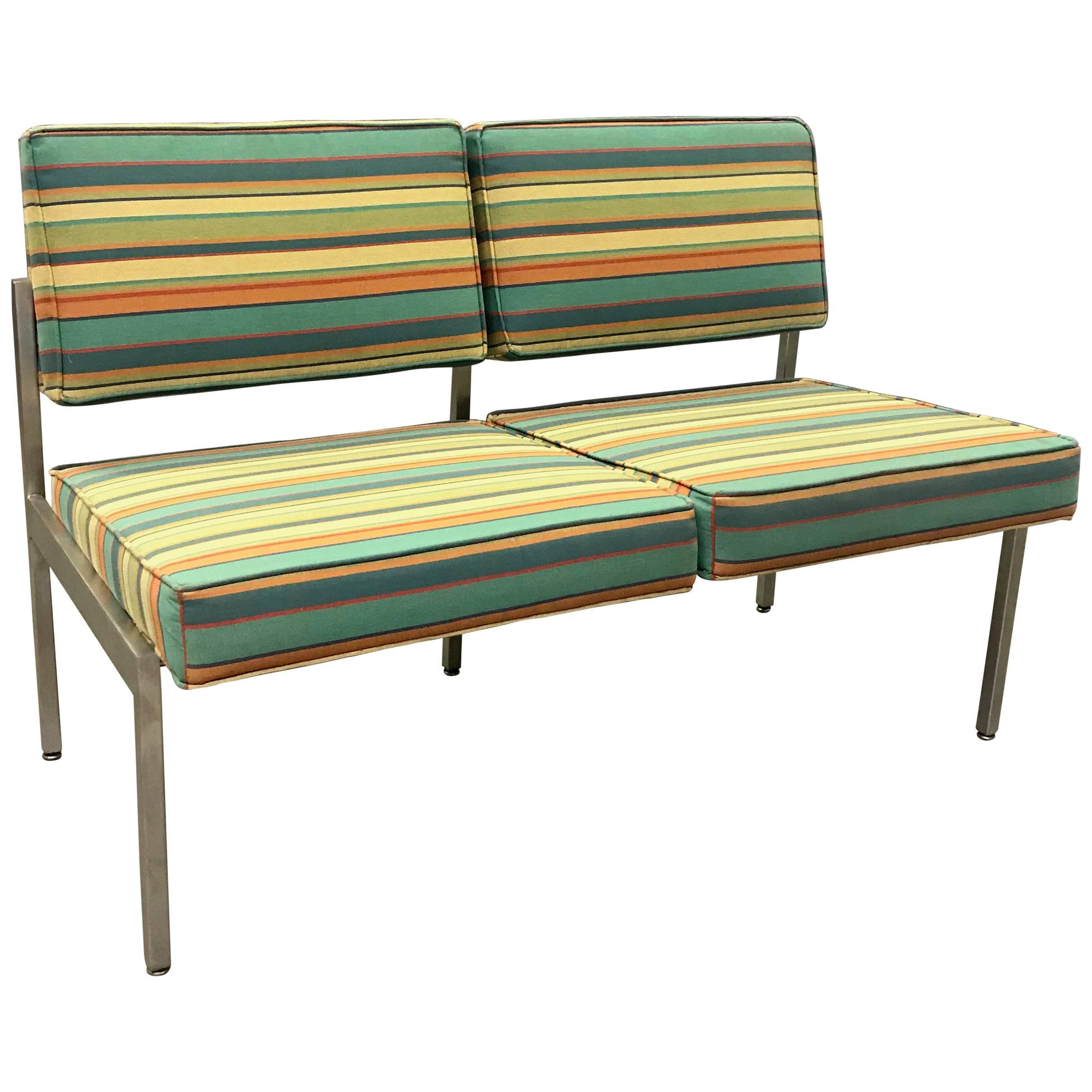 midcentury modern steelcase loveseat sofa