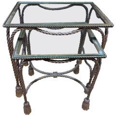 Pair of Rope Nesting Table