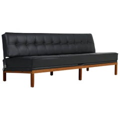 1960s Daybed by Johannes Spalt Mod. 'Constanze' for Wittmann Teak & Leather Sofa