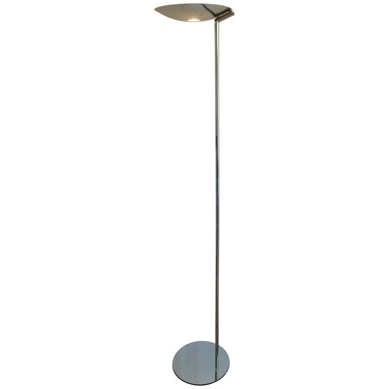 Mid-Century Modern Chromed Floor Lamp