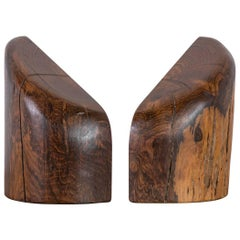 Don Shoemaker Cocobolo Bookends, México, 1960s