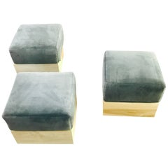 Haas Brothers  Set of  Three Modernist Ottomans