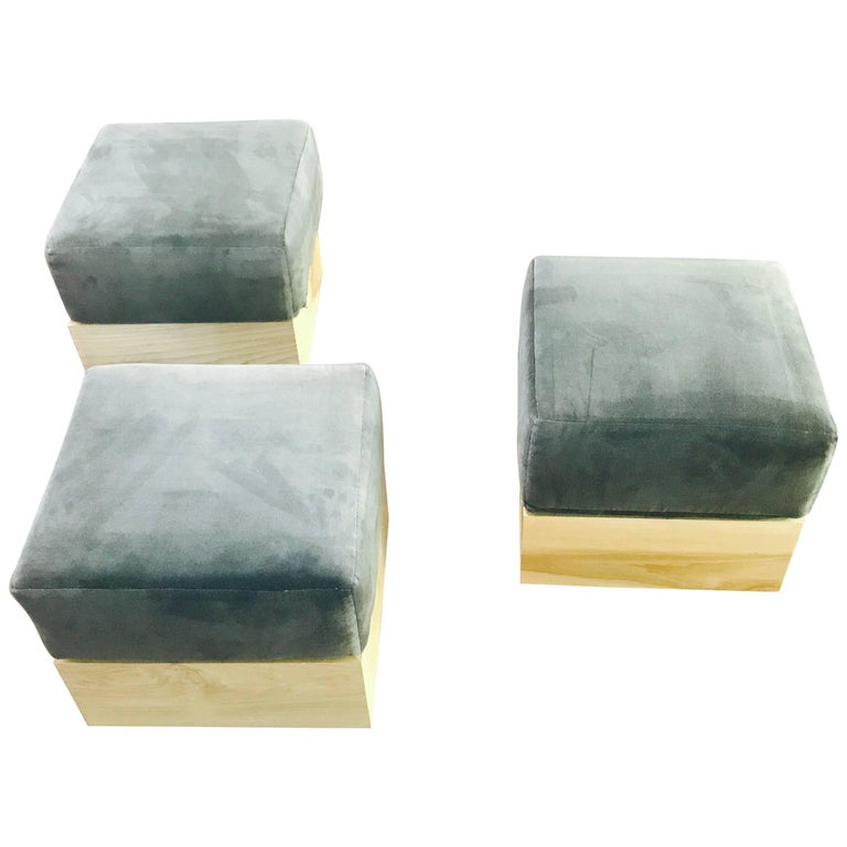 Haas Brothers set of three modernist ottomans, 2010