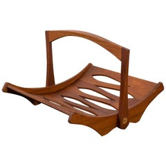 Jens Quistgaard Teak Magazine Holder for Dansk