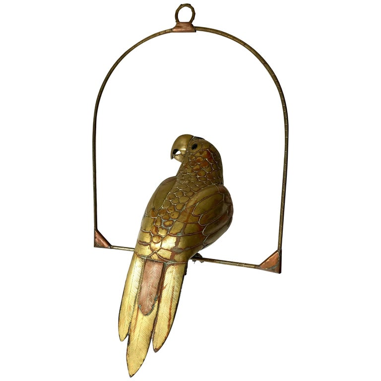 Sergio Bustamante Parrot of Brass and Copper