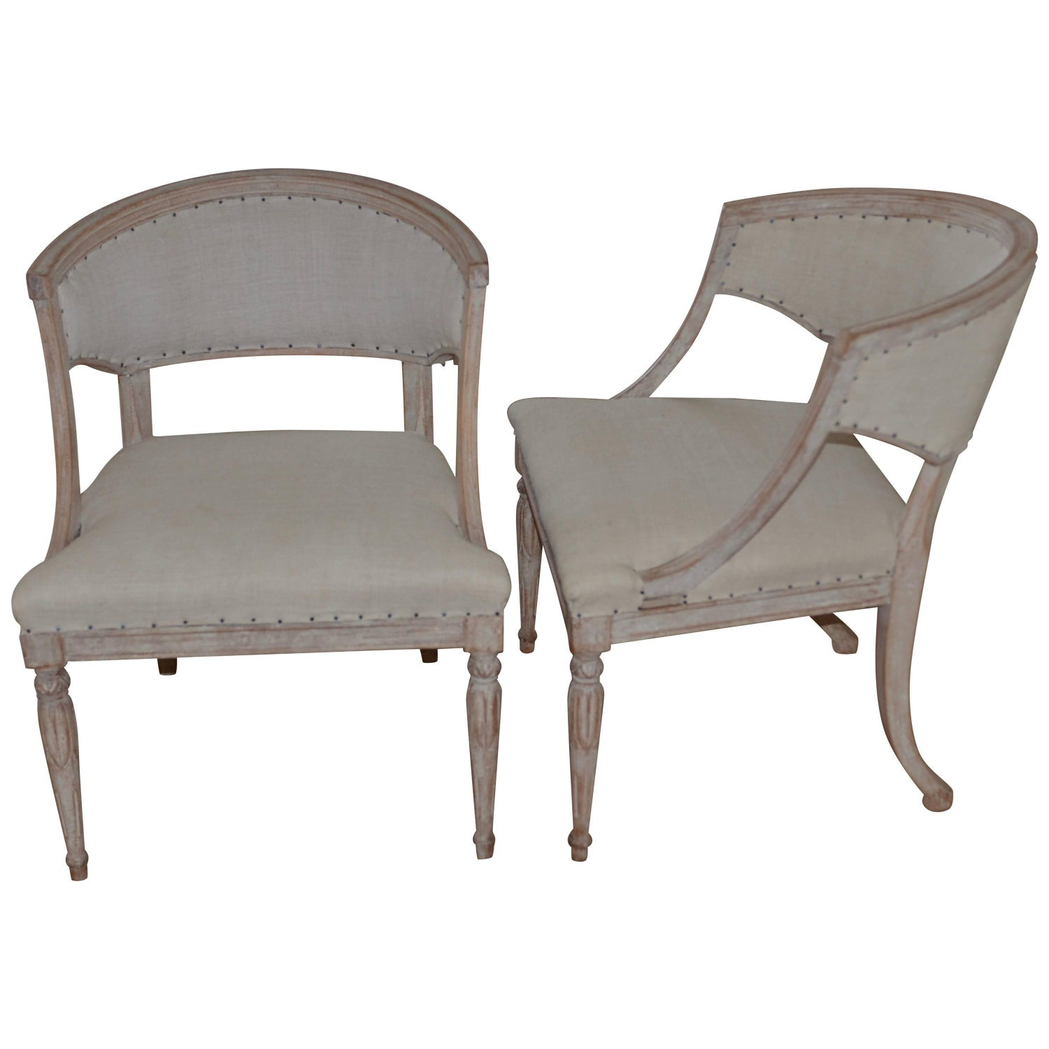 pair of th century swedish barrel back chairs. barrel chairs   for sale on stdibs