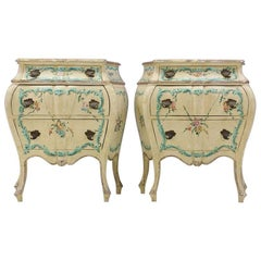 Venetian 1930s Painted Nightstands