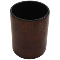 Typical 1970s Pot in Golden Brown Glaze by Ingrid Atterberg for Upsala-Ekeby