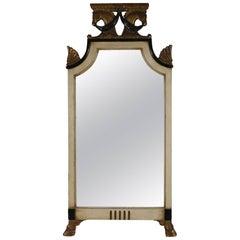 Regency Style Double Horse Head Mirror