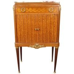 Louis XVI Style Inlaid Pier Cabinet