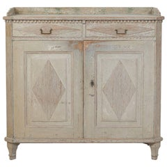 18th Century Swedish Gustavian Buffet with Original Paint