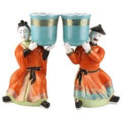 Gumps Ceramic Chinoiserie Figures