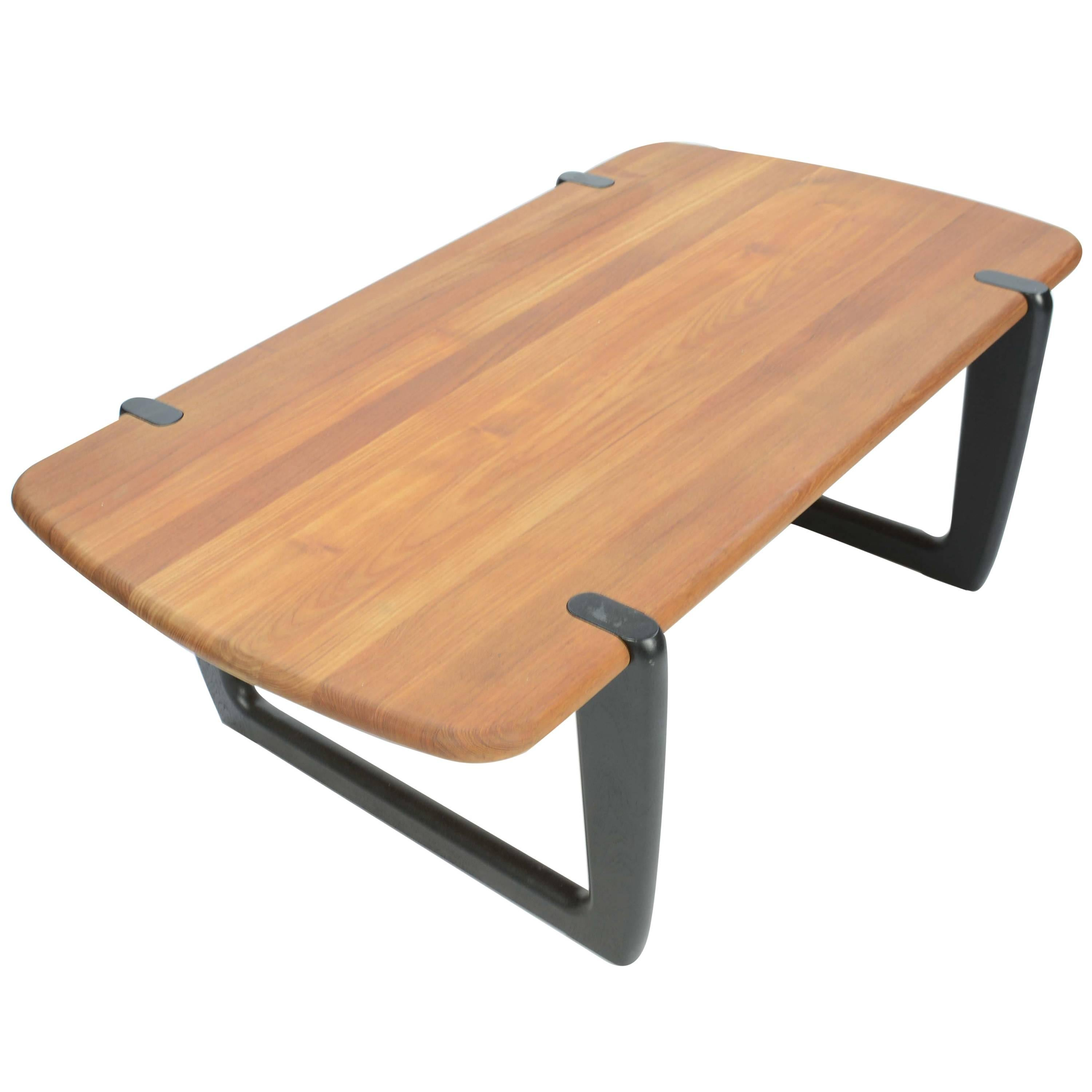 Large Danish Organic Shaped Coffee Table in Rosewood For Sale at