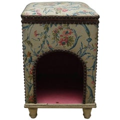 Late 19th Century French Antique Upholstered Dogs Bed