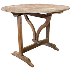 Antique French Folding Wine Table, circa 1910
