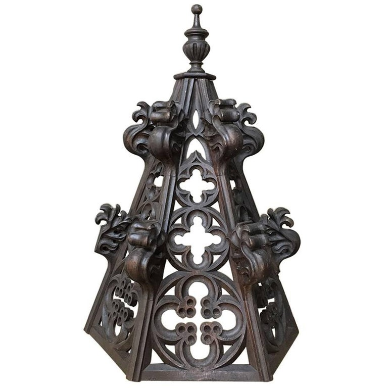 19th Century Gothic Carving, Architectural Fragment / Finial