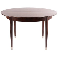 Georg Kofoed Rosewood and Pewter Dining Table