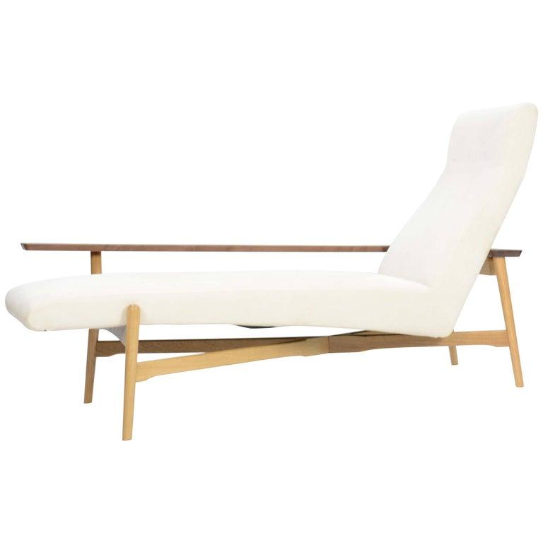 Tateishi Shoiji Chaise Lounge in Oak and Walnut For Sale