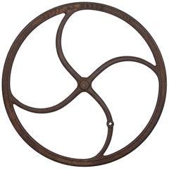 Antique Industrial Cast Iron Wheel