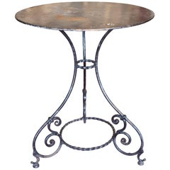 Antique Wrought Iron Bistro Table Found in France