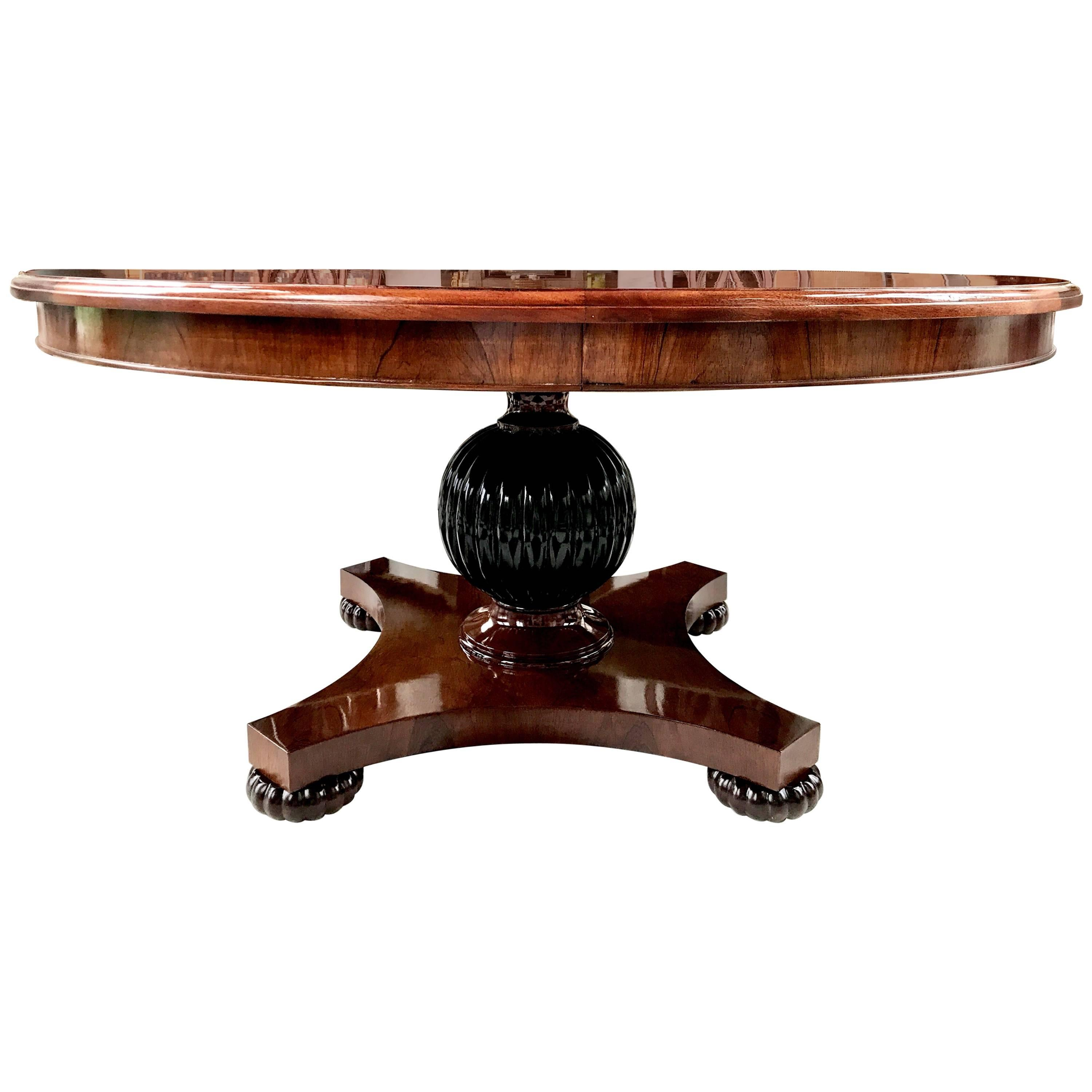 Round Dining Table In Rosewood. Lalique Cactus ...