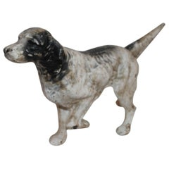 Early 20th Century Iron Hubley Dog Door Stop