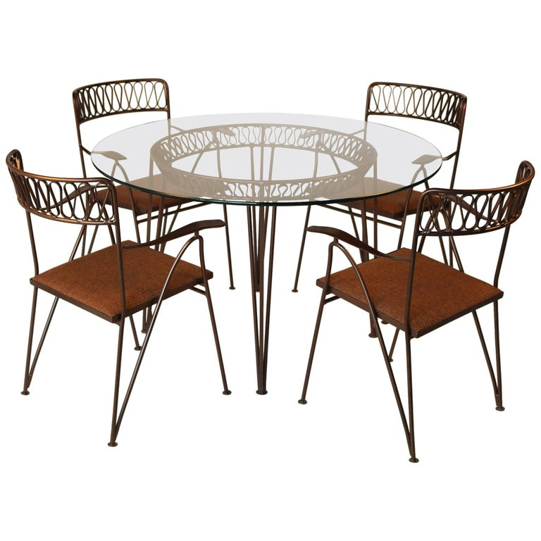 Maurizio tempestini for salterini patio table and chairs for Patio table and chairs sale