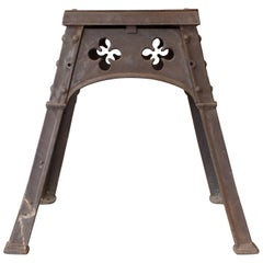 Antique French Gothic Iron Table from the Late 19th Century