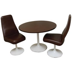 Two Chairs with Matching Table and Tulip foot by Johanson Design, Sweden, 1970s