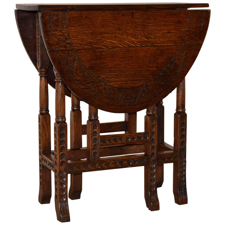 19th Century English Gate Leg Table For Sale At 1stdibs