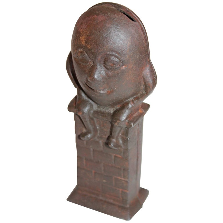 19th Century Iron Humpty Dumpty Bank 1