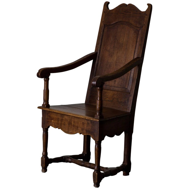 Armchair Baroque 18th Century Oak Southern Europe For Sale