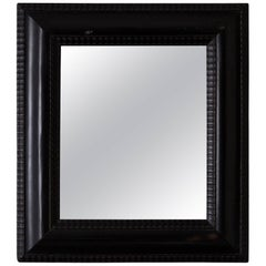 Mirror Baroque Ebonized Frame, 18th Century, Europe