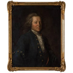 Robert Gardelle Signed Portrait Swiss Oil Painting, 18th Century, Switzerland