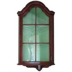 Burl Walnut Hanging Corner Cabinet