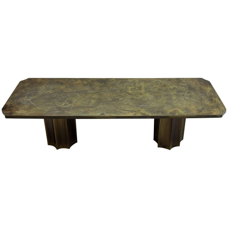 """Laverne """"Creation of Man"""" Coffee Table"""