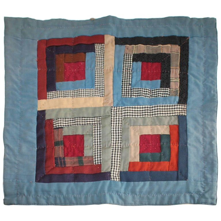 19th Century Amish Wool Doll Quilt Lancaster Co., Pennsylvania 1