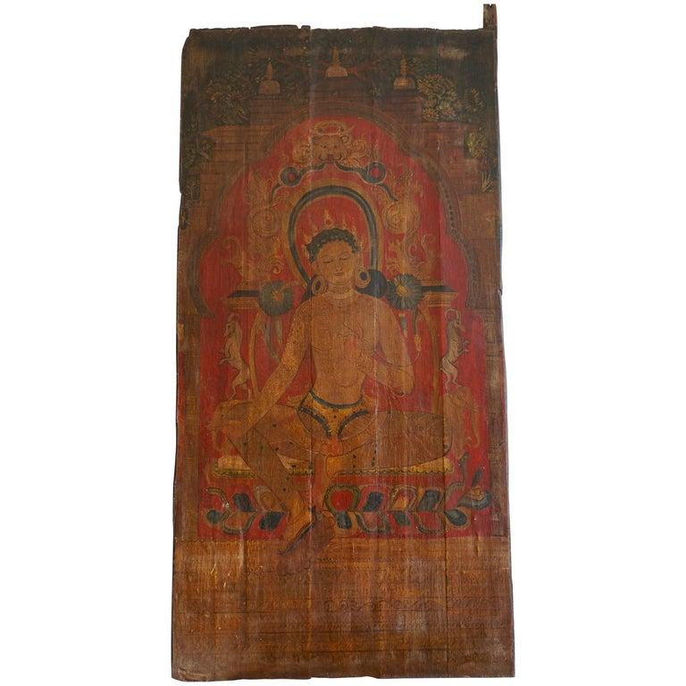 Fine Oil on Canvas Painting of Tara, the Female Bodhisattva, Tibet