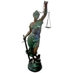 Blind Justice, Bronze Statue