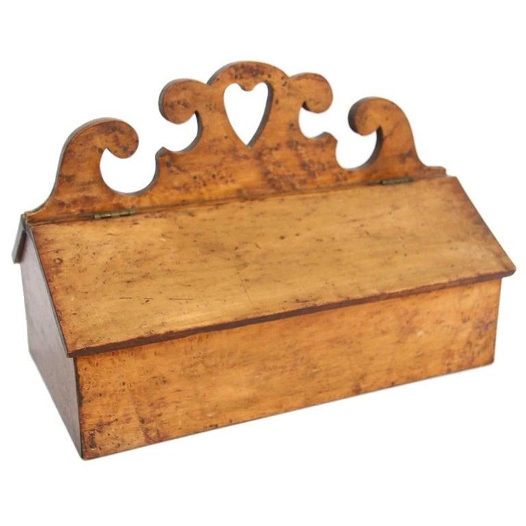 19th Century Pennsylvania Bird's-Eye Maple Veneer Utensil Box
