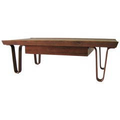 "Ed Wormley for Dunbar Small Size ""Long John"" Coffee Table"