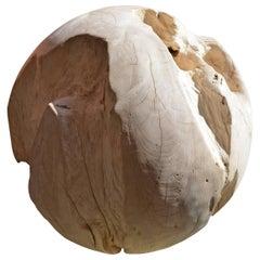Bleached Teak Wood Organic Sphere