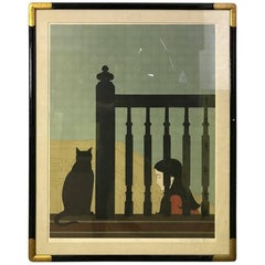 "Will Barnet ""The Banister"" Limited Edition Lithograph"