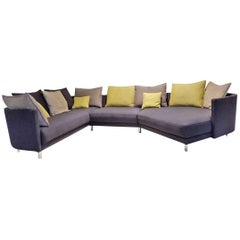 "Sofa ""Onda"" by Manufacturer Rolf Benz in Grey Fabric and Chrome"