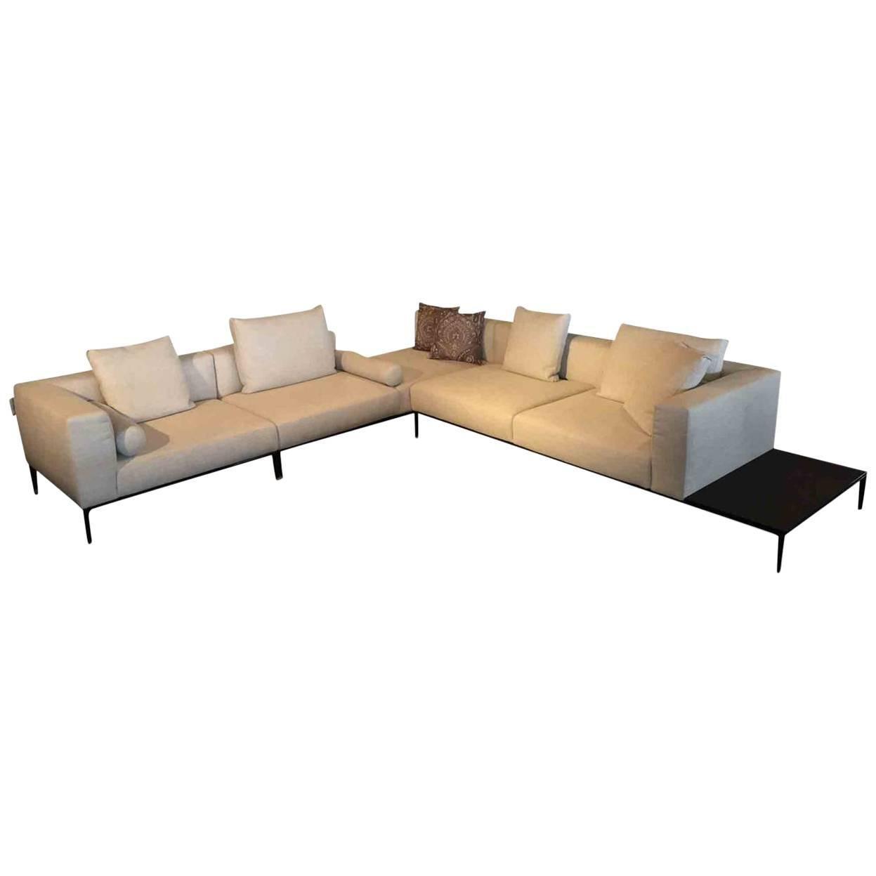Sofa U0026quot;Jaan Livingu0026quot; By Manufacturer Walter Knoll In Wood,  Aluminium And Fabric