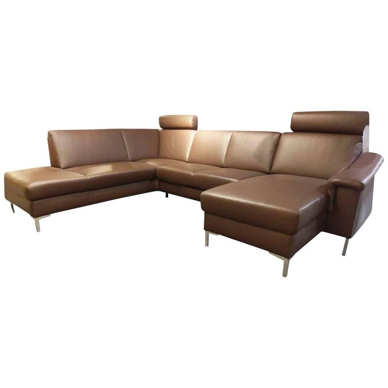 Sofa Selection Plus By Manufacturer E Schillig In Metal And Genuine Leather For Sale At 1stdibs