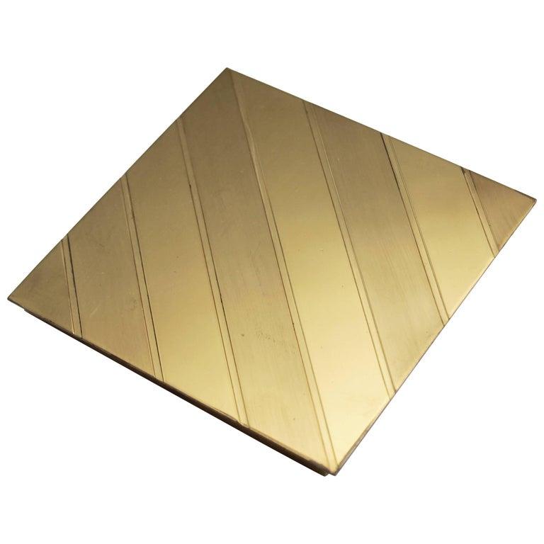 Brass Cigarette Case or Box by Gabriella Crespi, Signed