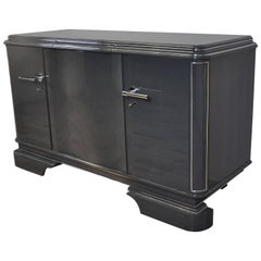 Grey Metallic Sideboard
