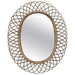 Bonacina Mirror Bamboo Design, 1960