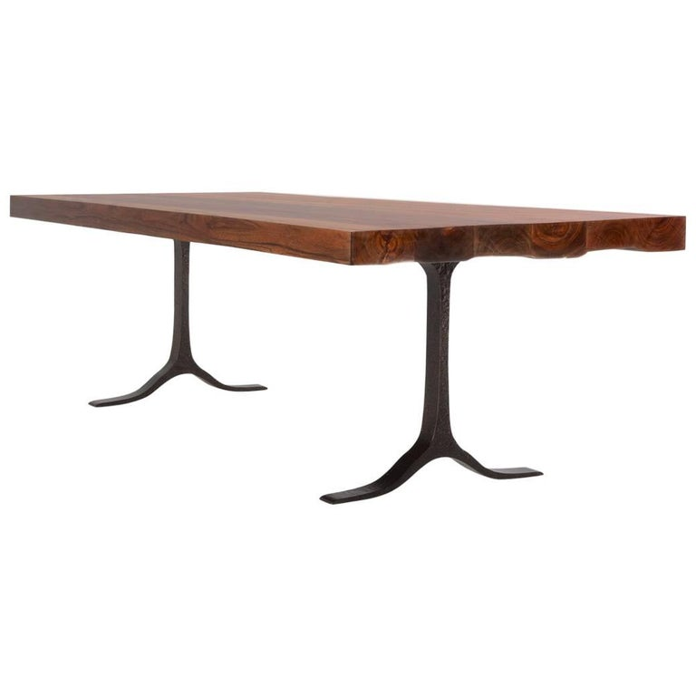 Bespoke Reclaimed Hardwood Table with Bronze Sculpture Structure, P. Tendercool
